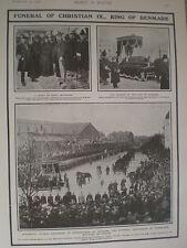 Printed photos Funeral King Christian IX of Copenhagen Denmark 1906