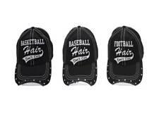 Sports Mom Hair don't care Hats/distressed/ Football, Baseball, Basketball