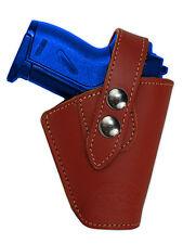 Barsony OWB Burgundy Leather Belt Clip Holster Ruger KelTec Kahr Mini 22 25 380