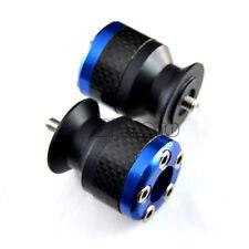 8mm Universal Motorcycle Carbon Fiber Swingarm Spools Slider Stand Screws Blue