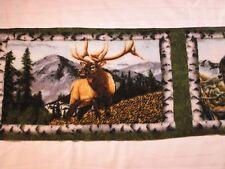 Eagle Wolf Moose Deer Fleece Scarf