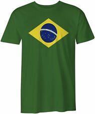 Brazil National Flag Bandeira do Brasil, Brazilian Green Unisex  T-shirt