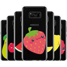 dessana Süße Früchte Silikon Schutz Hülle Case Handy Tasche Cover für Samsung