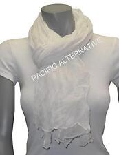 Foulard Blanc grand gros 110x170 femme mixte chale echarpe NEUF scarf white