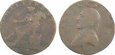 Grande-Bretagne, half Penny token, jeton cuivre Warwickshire 1791 (14)