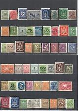 Deutsches Reich 1921 - 1923, Auswahl Sammlungen aus MiNrn: 119 - 330 **/*/(*)