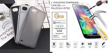 """PER LG Q6 M700A / G6 MINI 5.5"""" / Q6 PLUS CUSTODIA COVER GEL + PELLICOLA VETRO 9H"""