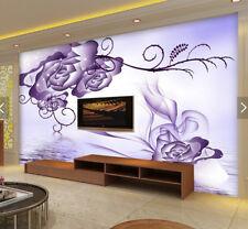 3D Purple Flower 928 Wallpaper Mural Paper Wall Print Wallpaper Murals UK Carly