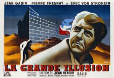 La grande illusion Jean Gabin vintage movie poster 15