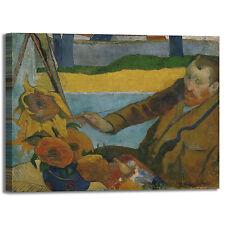 Gauguin Van Gogh dipinge girasoli quadro stampa tela dipinto telaio arredo casa