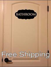 BATHROOM - wall vinyl sticker inspirational art home ornate decor FREE SHIPPING!