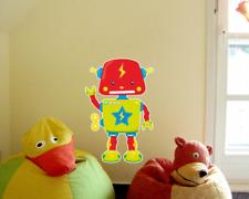 Grüner Roboter Wandtattoo Wandaufkleber Kinderzimmer  4 Größen