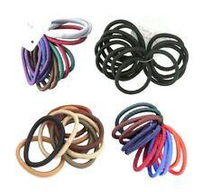 12 Coloured Snag Free Endless Hair Elastics Bands Bobbles Hair Accessory