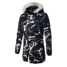 Winter Men's Camouflage Hooded Overcoat Outerwear Jacket Padded Long sleeve Coat