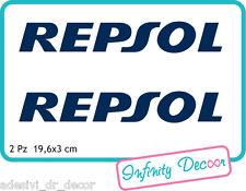 "2 Adesivi ""REPSOL"" 19,6X3 cm sponsor tecnici moto honda suzuki kawasaki ducati"