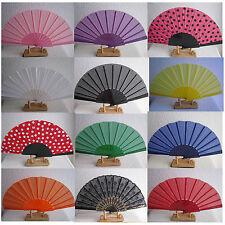 Handfächer Fächer Taschenfächer aus Stoff und Kunststoffstreben