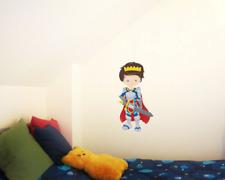 König Wandtattoo Wandaufkleber Kinderzimmer Aufkleber  5 Größen