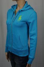 Ralph Lauren Blue Full Zip Hoodie Sweatshirt Big Pony NWT
