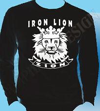 Lion Of Judah T-Shirt Reggae Rasta Marley Jamaica Iron Zion Dub Bob Long Sleeve