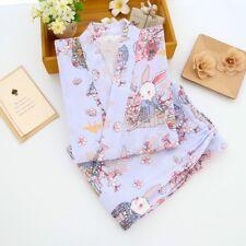 Lady Cotton Kimono Pajamas Set Kawaii Bath Sleepwear Japanese Nightwear Cosy Fit