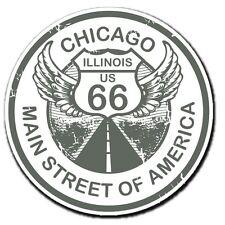 2 x Chicago Route 66 Car Vinyl Sticker Laptop Travel Luggage #4041