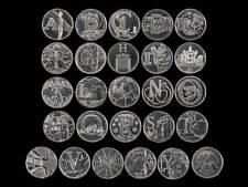 2018 Uncirculated Royal Mint Alphabet Set New 10p Ten Pence Choose Your Coin