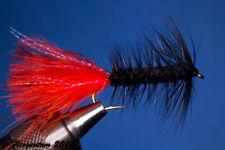 Fliegentom Streamer 3 pièces Wooley Bugger noir/rouge