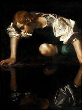 Glas Glasbild Michelangelo Maria mit Kind in der Glorie braun