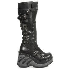 New Rock Damen Boots Stiefel Stiefelette gothic schwarz M.SP9831-C1 30 Tage