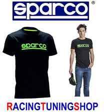SPARCO T-SHIRT MAGLIA MANICA CORTA NERO VERD ORIGINALE SPARCO TSHIRT BLACK/GREEN