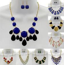 New Latest Hot Fashion Necklace & Earrings Set - Drop Bubble Statement BIB