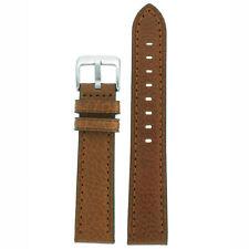 Watch Band Honey Brown Genuine Leather Buffalo Grain LEA1462