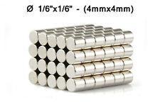 "4mmx4mm Neodymium Disc Magnets - 4x4 mm - 4*4 mm - 1/6""x1/6"" Fridge Magnet"