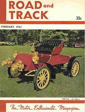 Road & Track 1951 Feb ford model t gmc brm goertz nardi