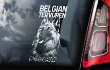 Belgian Tervuren on Board - Car Window Sticker - Tervueren Dog Sign Decal - V01
