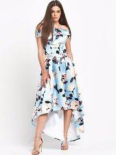 Chi Chi Londres Chi Chi London Floral Print Bardot Dip Hem Maxi Dress 8 16 18 24