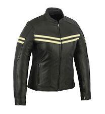New Women's Black Genuine Cowhide Leather Jacket Biker Motorcycle Style Jacket