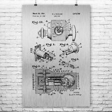 Deadbolt Door Lock Poster Patent Art Print Gift Deadbolt Patent Deadbolt Design