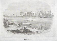 1860-FRANCIA-AVIGNONE-FRANCE-PAESAGGIO-INCISIONE ORIGINALE