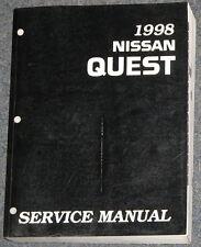 1998 Nissan Quest Mini-Van Service Repair Manual