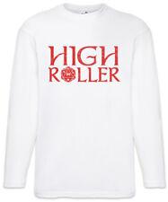 High Roller Herren Langarm T-Shirt Geek Nerd Fun RPG MMORPG Gamer Dices Würfel