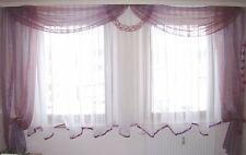 organza Gardine lila-weinrot glänzend in 2 Fensterbreiten