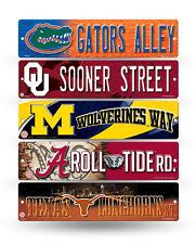 "NCAA College Street Sign - 3.75"" x 16"" - Pick your school!!"