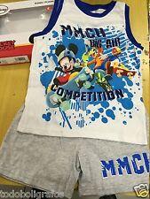 Pijama Disney Mickey Mousse  para niños, elija talla, de 2 a 6 años. Nuevos.