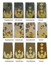 BW Rangschlaufen HEER / GENERAL Dienstgrad - Bundeswehr Schulterklappen wählbar