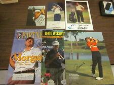 6 PGA Golf Publications & Photos Autographed B & E Holo