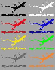 Aufkleber Sticker Quattro Gecko in div. Farben Allrad A4 A6 RS S3 S4 RS6 80 100