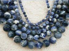 UKcheapest-beautiful L sodalite round 4 6 8 10 12mm gemstone beads blue white