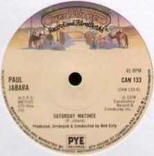 "PAUL JABARA ~ SATURDAY MATINEE / DISCO QUEEN ~ 1978 UK 7"" SINGLE"