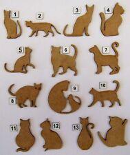 MDF Wooden Cat, Pet laser cut out shapes for craft making, decoration, embellish